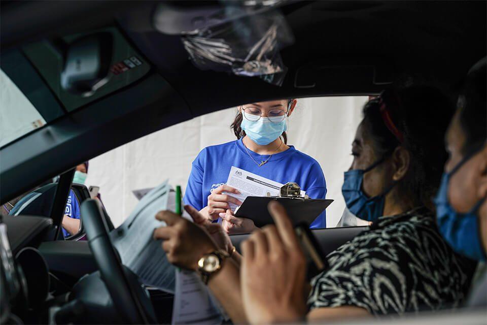 Sime Darby Oils - OKU Sentral Drive Through Vaccination Center